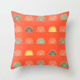 Asian fusion red Throw Pillow