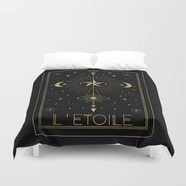 L'Etoile or The Star Tarot Gold Duvet Cover