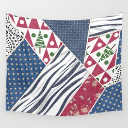 Abstract pattern .Textile patchwork patchwork . Wall Tapestry