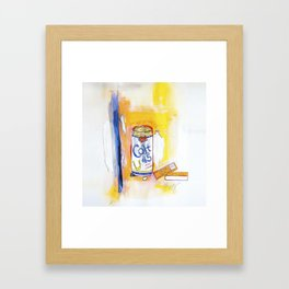 Colt 45 and 2 Zig Zags (An ode to Afroman) Framed Art Print