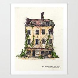 Fallen House Art Print
