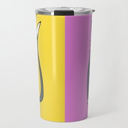 Odd Kitty Out - Tabby Cat Pattern Travel Mug