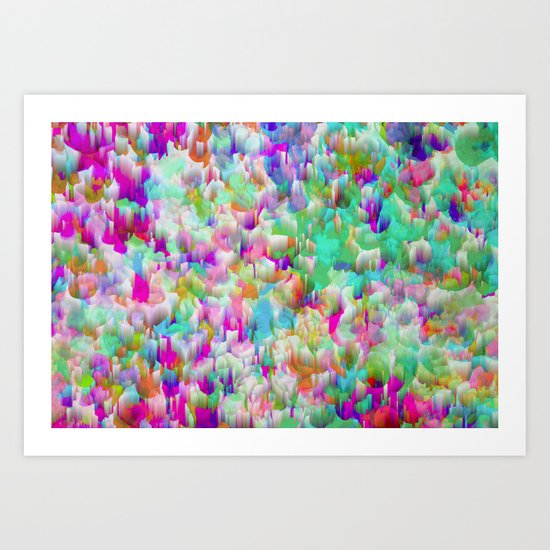 Neon Rain Art Print