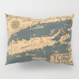 Map of Long Island Pillow Sham