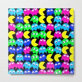 Pacman wallpaper Metal Print