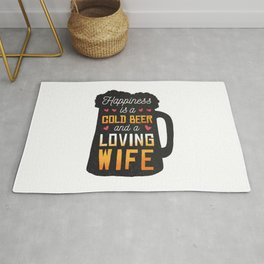 Beer quote | Happiness Rug