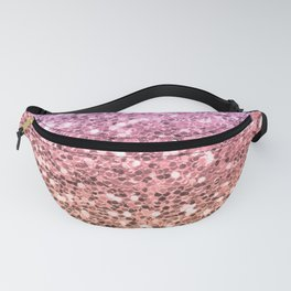 Pastel Mermaid Glitters Sparkling Cute Girly Background Gold Pink Fanny Pack