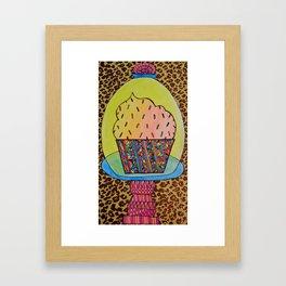Funfetti Cupcake Framed Art Print