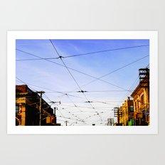 Queen Street Grid Art Print