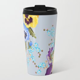 Pansies (Blue) Travel Mug