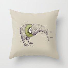 Kiwi Anatomy Throw Pillow