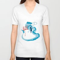 spirited away V-neck T-shirts featuring Spirited by IlonaHibernis