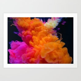 Colors Explosion Art Print