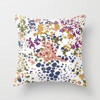 leah flores Throw Pillows featuring FLORES by gcmozamo