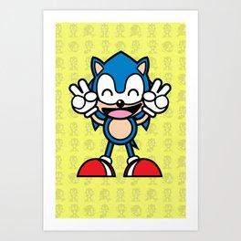 Hedgehog Kawaii Art Print