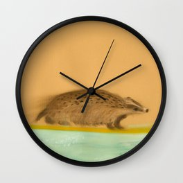 Rider - Badger Surfer Wall Clock