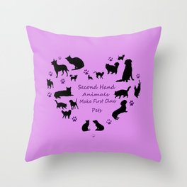 Love of the Pets Pets Typogarphy Throw Pillow