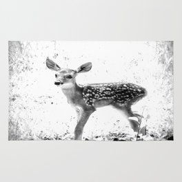 The Sweetest fawn Black & White Rug