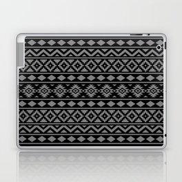 Aztec Essence Ptn III Grey on Black Laptop & iPad Skin