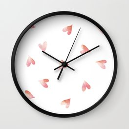 little pink hearts Wall Clock