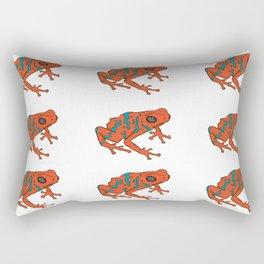 Frog Print Rectangular Pillow