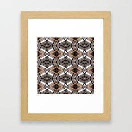 Geometric Light and Mesh Framed Art Print