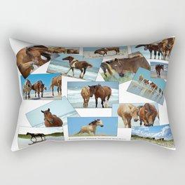 Assateague Ponies Rectangular Pillow