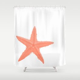 Coral Starfish Shower Curtain