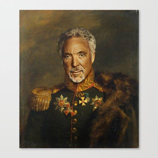 Sir Tom Jones - replaceface Canvas Print