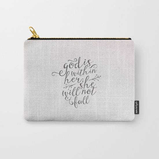 SHE WILL NOT FALL Carry-All Pouch
