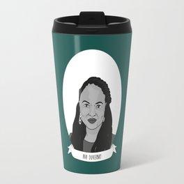 Ava DuVernay Illustrated Portrait Travel Mug
