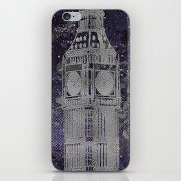 Graphic Art LONDON Big Ben | ultraviolet & silver iPhone Skin