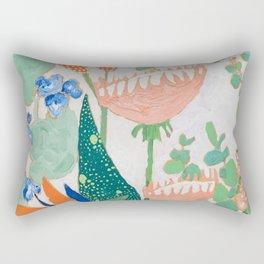 Proteas and Birds of Paradise Painting Rectangular Pillow