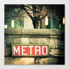 METRO SIGN, PLACE DE LA CONCORDE Canvas Print
