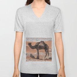 Camel, Desert Wall Art, Desert Print, Boho Wall Art, Unisex V-Neck