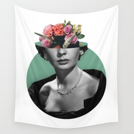 Jean simmons Floral Wall Tapestry