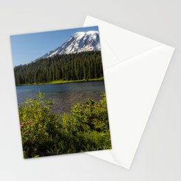 Wildlflower Color by Reflection Lake and Mt Rainier, No. 1 Stationery Cards