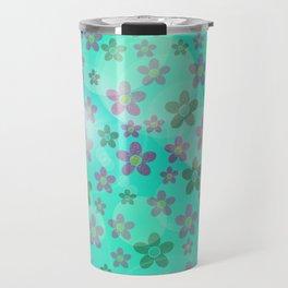 colored subtle pattern Travel Mug