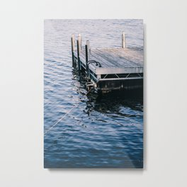 Lake Indigo Metal Print