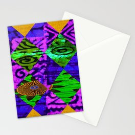 Mardi Gras African Print Stationery Cards