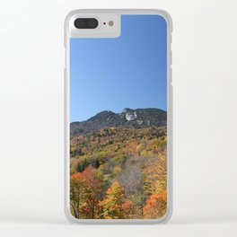 Autumn Forest under a Blue Sky, Horizontal Clear iPhone Case