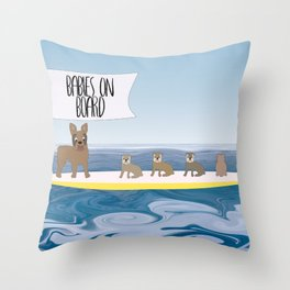 Babies On Board Throw Pillow