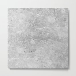Gray Concrete Metal Print