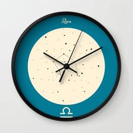 Libra - Blue Wall Clock