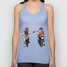 biker fist bump  Unisex Tank Top
