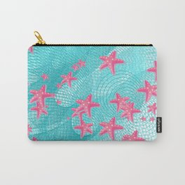Pink starfish Carry-All Pouch