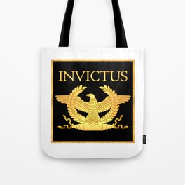 Invictus Eagle on Black Tote Bag