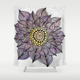 Purink Flower Shower Curtain