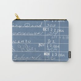 Library Card 23322 Negative Blue Carry-All Pouch
