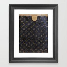 LV style Louis Framed Art Print